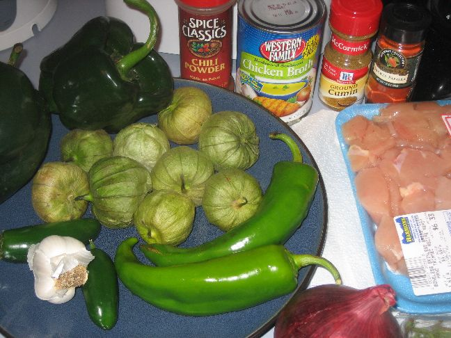 Chicken chilli verde ingredients