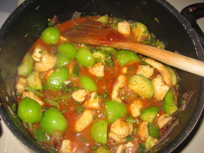 Chicken chilli verde remainder of ingredients