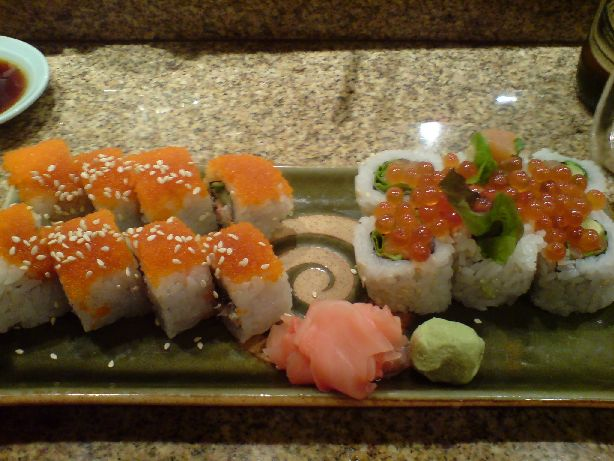 kyoto bear roll and alaska roll