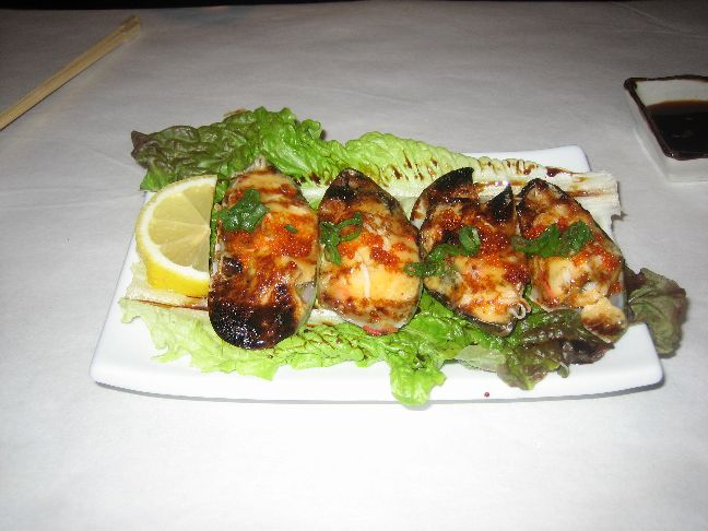 sapporo baked mussels