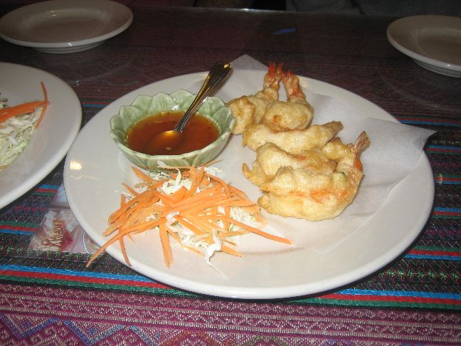 thai lotus crispy coconut shrimp