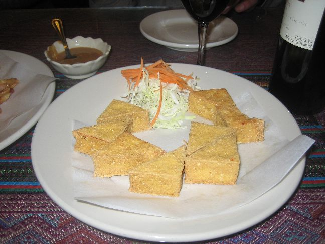 thai lotus deep fried tofu