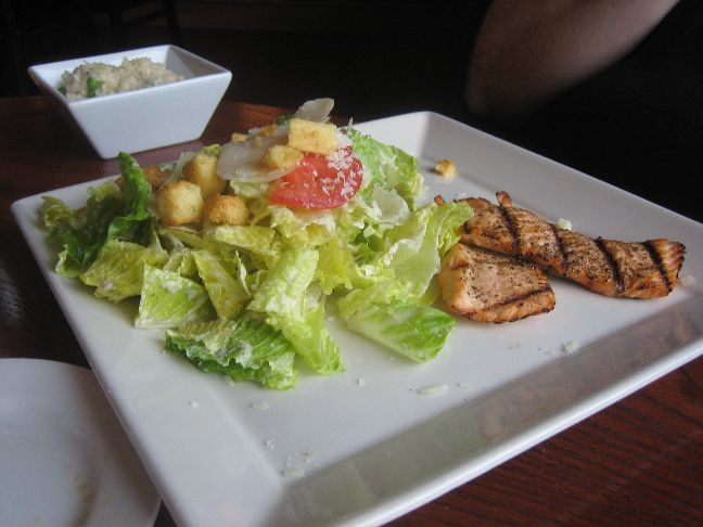 baxters american caesar salad with salmon