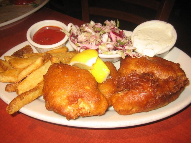 red rock fish and chips