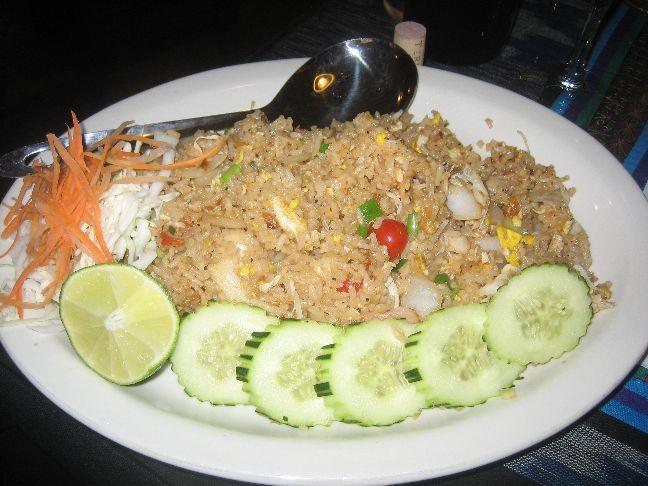 thai lotus crab fried rice