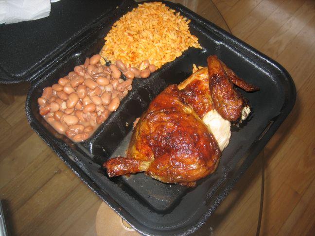 El Rooster Rojo half chicken