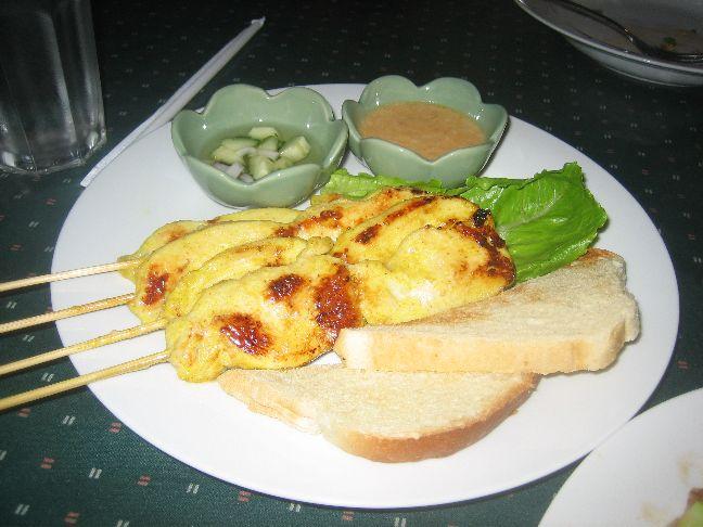 tasty thai chicken satay