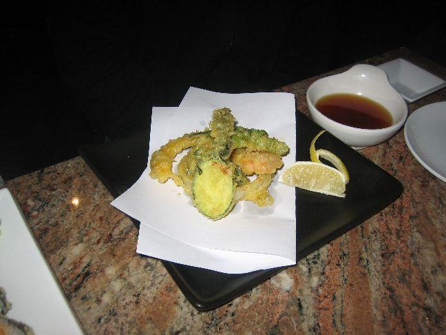 naked fish vegetable tempura