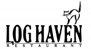 log haven logo with cat