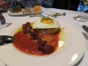 log haven polenta and egg