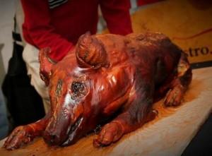 dia de los muertos roast pig