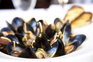 fine dining at bambara pei mussels