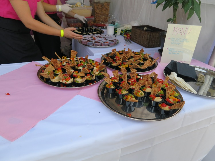 stone fruit salad and hummus at taste of the wasatch 2013