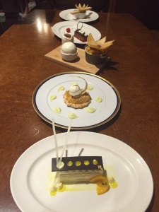grand america desserts on a table