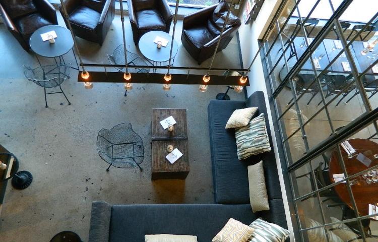 under current lounge area