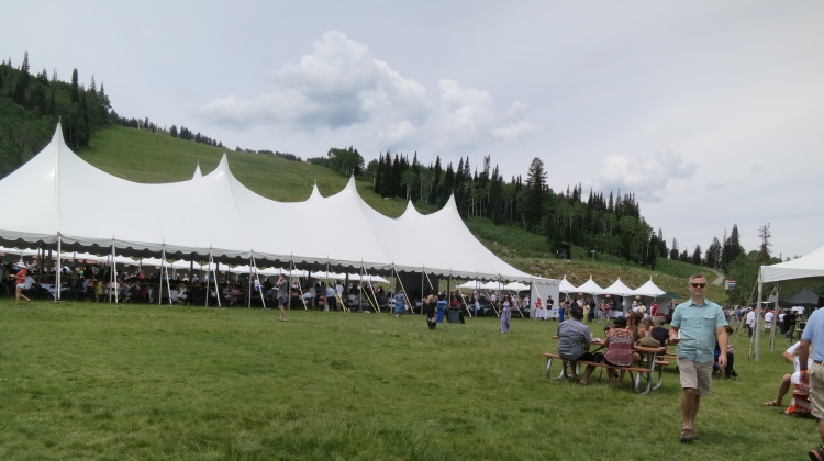 Taste Of The Wasatch VIP tent in 2014