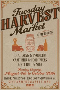 tuesday harvest farmers market flyer