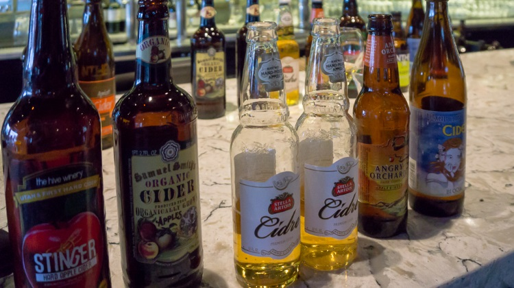 various hard ciders at undercurrent