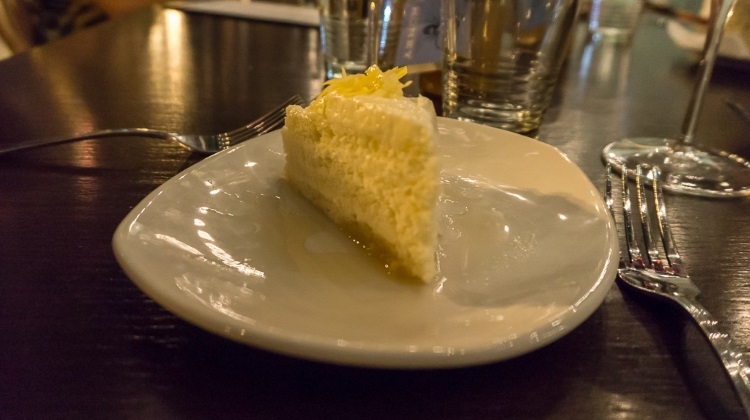 lemon cream cake at porch