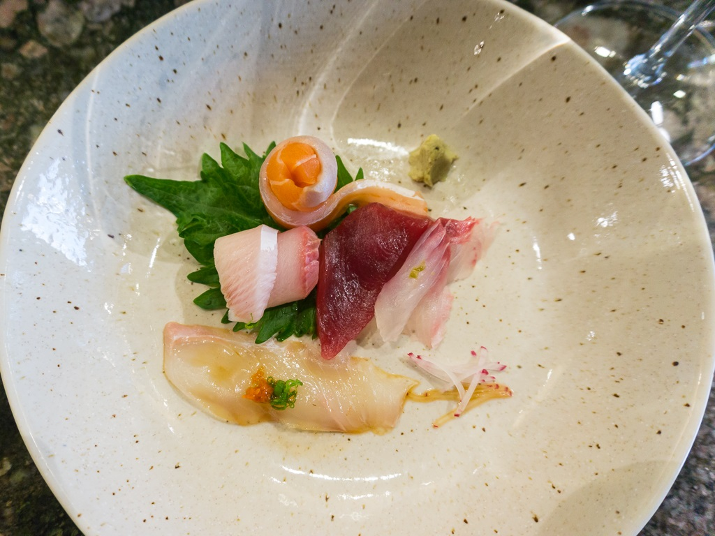 Naked Fish Sashimi selection during 2015 omakase