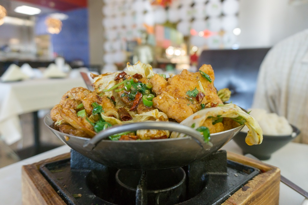 Hot dynasty fish filet in dry pot