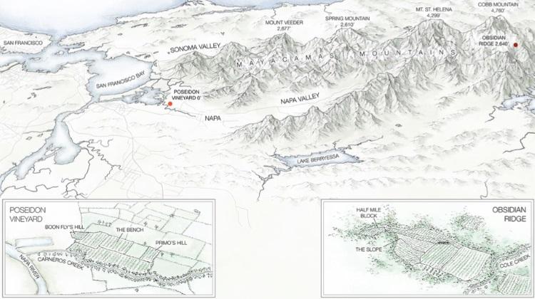 Poseidon Vineyard and Obsidian Ridge