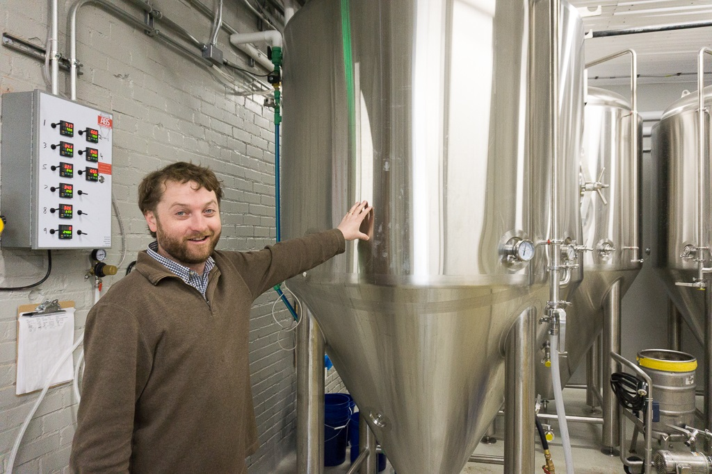 liam connelly shows off new brewing capacity