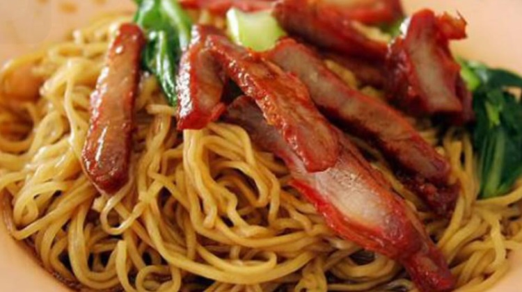 zabb noodles BBQ pork with egg noodle