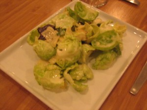 finca brussel sprout salad