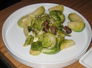 finca brussel sprouts in cream and bacon