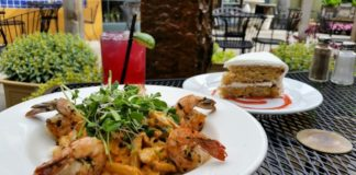oasis cafe prawns and pasta special