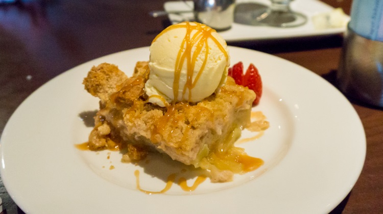 Butcher's Chop House - bread pudding ala mode