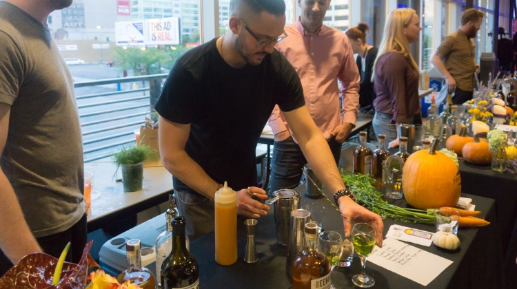 Farm To Glass 2015 awards party - Giancarlo Farina and Tyler Stokes of Provisions