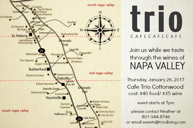 napa valley wine dinner cafe trio