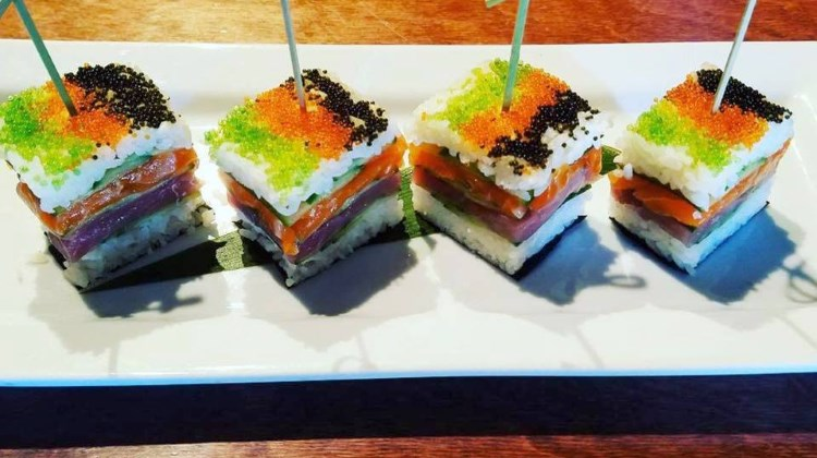 sushi sliders at blind dog