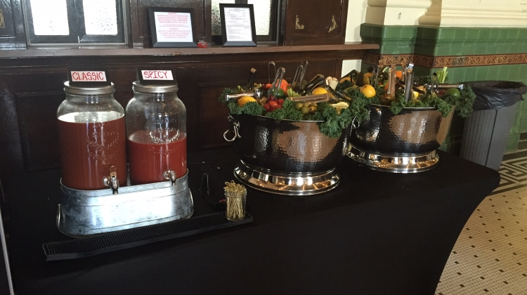 Gospel brunch bloody Mary bar