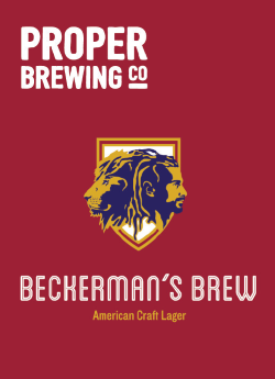 Proper Brewing - Beckerman's Brew