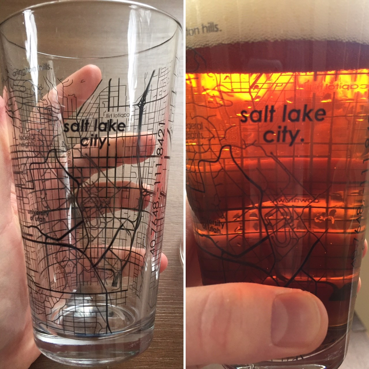 Uncommon Green Salt Lake City glasses