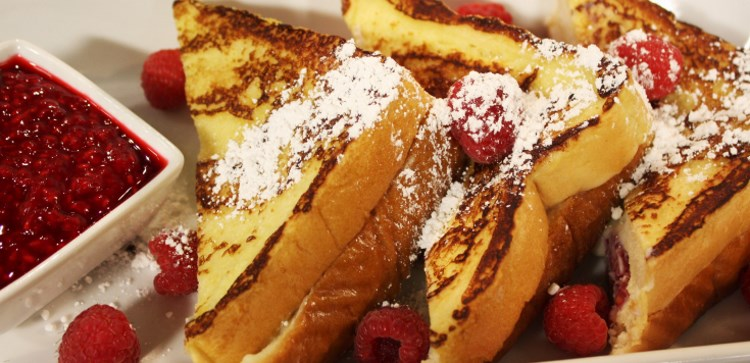 Cuisine Unlimited - raspberry and mascarpone stuffed French toast delivered right to your doorstep