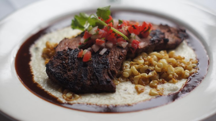 Log Haven - bison with poblano chile grits