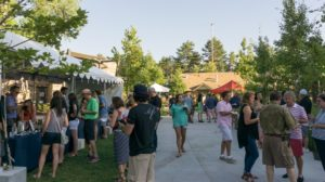 Eat Drink SLC - 2016 crowds with sun setting