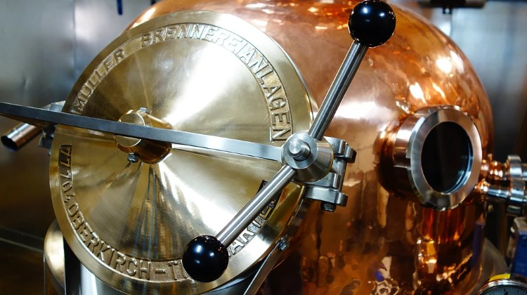 Waterpocket Distillery - shiny new copper stills