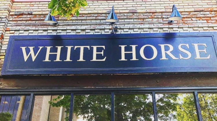 White Horse Spirits & Kitchen - outside sign. Credit, Facebook.