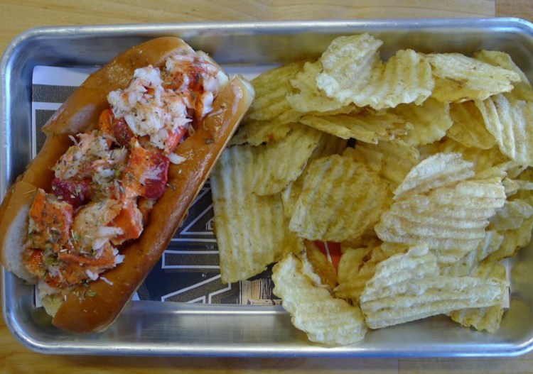 Freshies Lobster Co - lobster roll, now with beer and wine. Credit, Facebook.