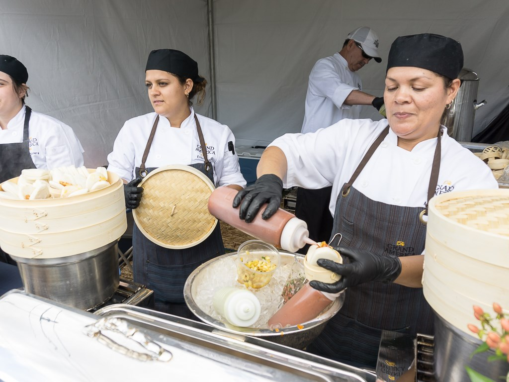 Taste Of The Wasatch 2016 - Grand America with steamed buns