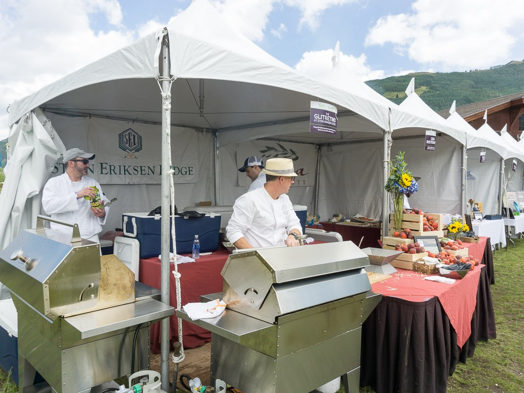 Taste Of The Wasatch 2016 - Chef Zane Holmquist grilling ribs