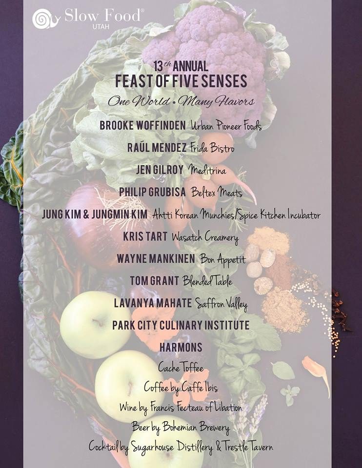 Feast Of The Five Senses 2017 chef list