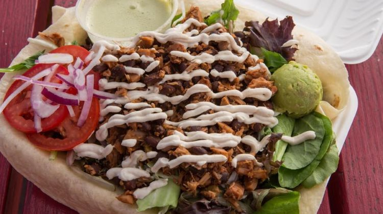 Buds - taco salad with jackfruit and black beans. Credit Buds