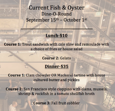 Current Fish And Oyster Dine O Round menu