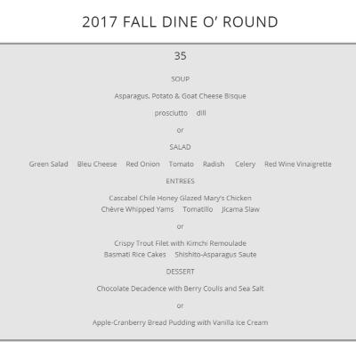 Martine Dine O Round menu